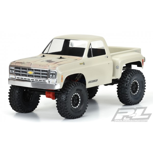 """Pro-Line 1978 Chevy K-10 Clear Body for 12.3"""" WB Crawlers"""