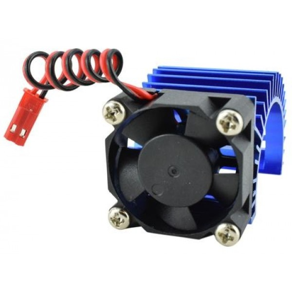Apex RC Products Aluminum 540/550 Motor Heat Sink with 30mm Fan, Blue