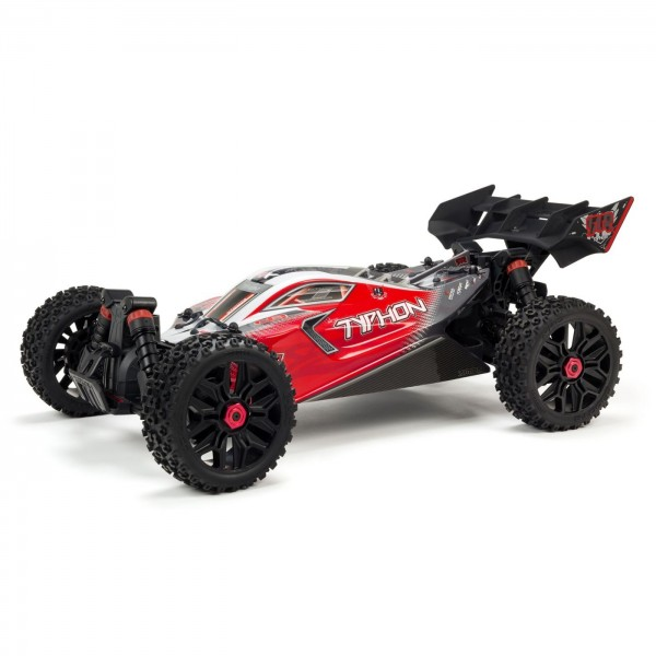 Arrma 1/8 Typhon 4X4 3S BLX Brushless 4WD Buggy, Red