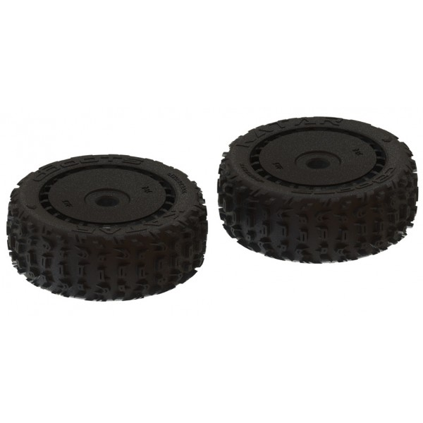 Arrma dBoots 'Katar B 6S' Tire Set Black (2)