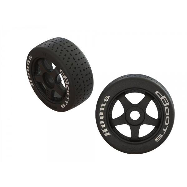"""Arrma DBoots Hoons 42/100 2.9"""" Belted 5-Spoke Mounted Wheels (2)"""