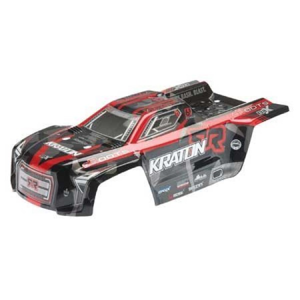 Arrma KRATON 6S pre-painted & decalled body, Red/Black