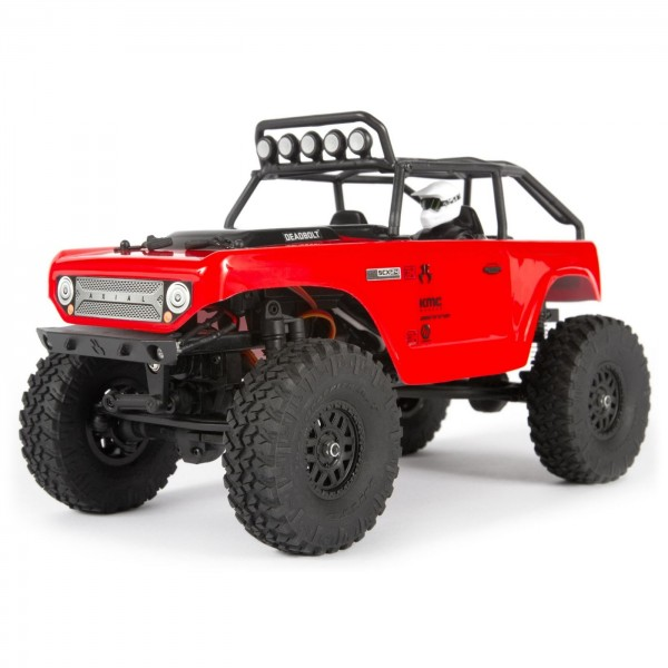 Axial SCX24 Deadbolt RTR 1/24 Brushed 4WD Crawler, Red