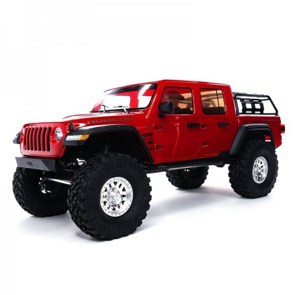 Axial SCX10 III Jeep JT Gladiator 1/10 4WD RTR Crawler with Portals, Red