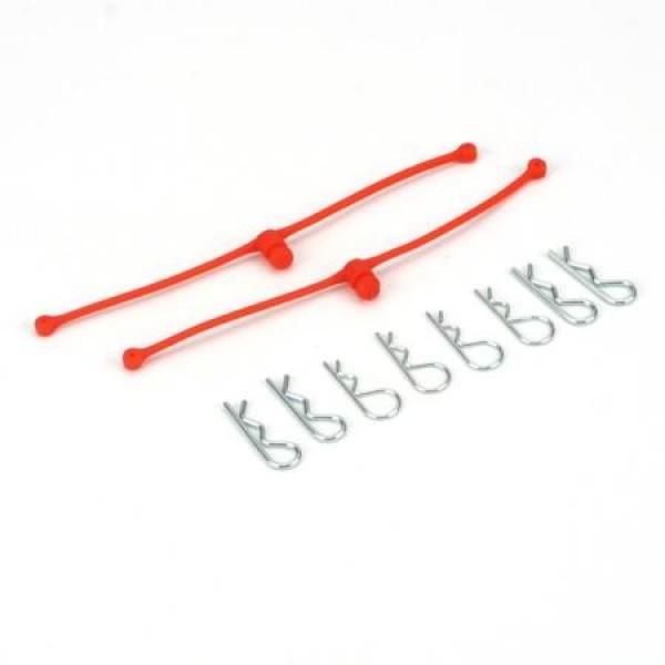 Body Klip Retainers with Body Clips Orange (2)