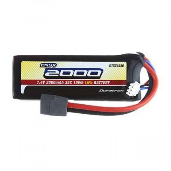 Duratrax LiPo Battery 2000mAh 35C 7.4V (2S) with Deans Connector