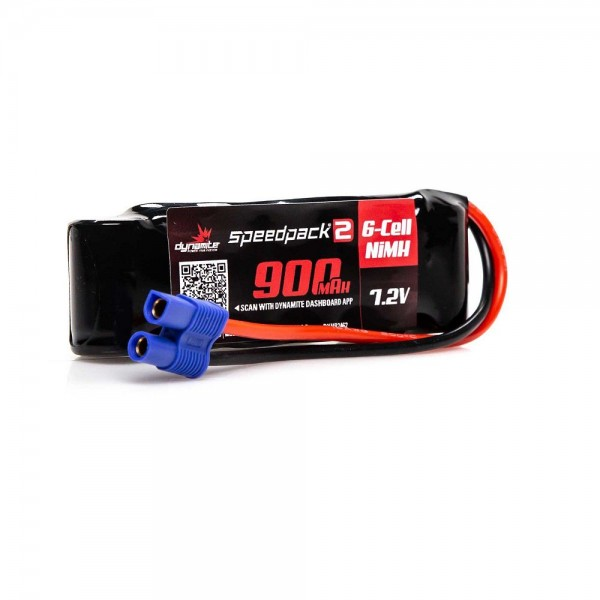 Dynamite Speedpack2 7.2V 900mAh 6C NiMH Battery with EC3 Connector