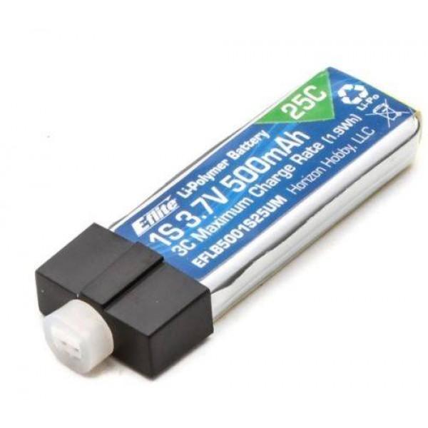 E-Flite LiPo Battery 500mAh 25C 3.7V (1S) with Ultra-UMX (UMX)