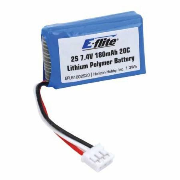 E-Flite LiPo Battery 180mAh 20C 7.4V (2S)