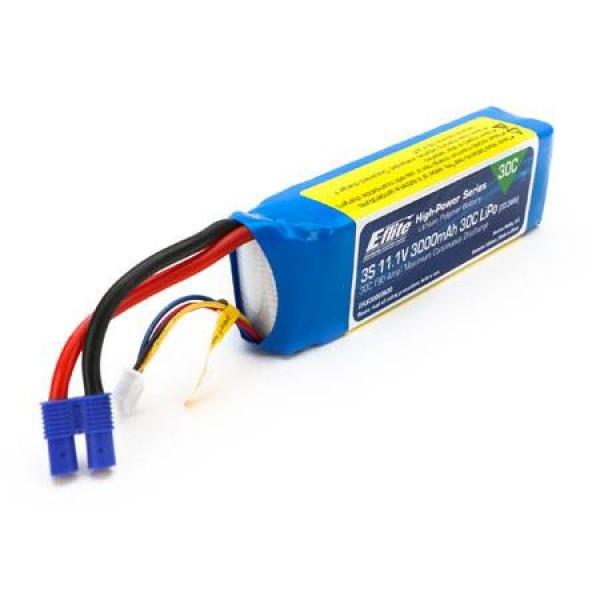 E-Flite LiPo Battery 3000mAh 30C 11.1V (3S)