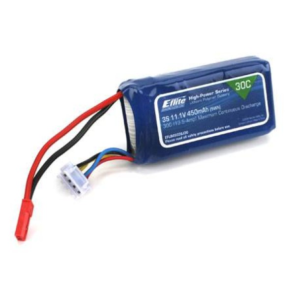E-Flite LiPo Battery 450mAh 30C 11.1V (3S) with JST Connector