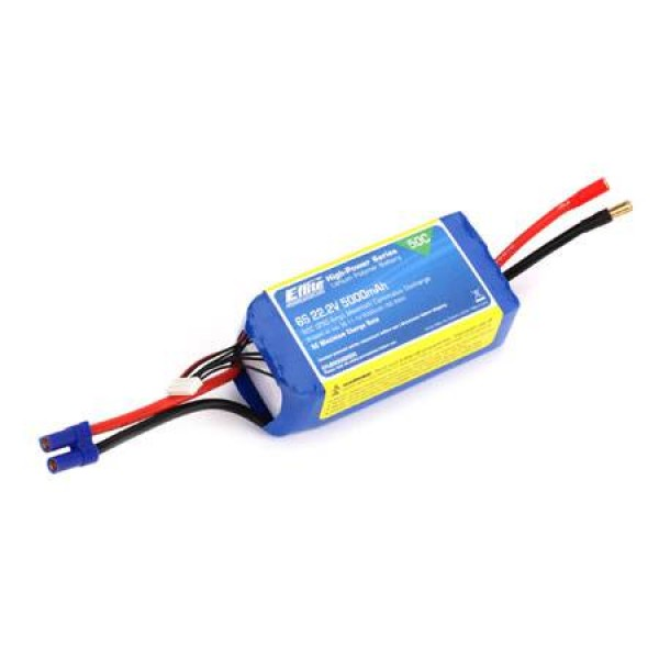 E-Flite LiPo Battery 5000mAh 50C 22.2V (6S) with EC5 Connector