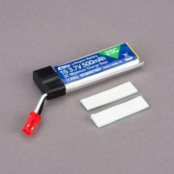 E-Flite LiPo Battery 500mAh 25C 3.7V (1S)