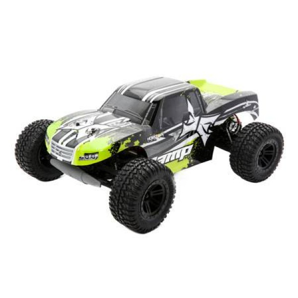 AMP MT RTR 1/10 2WD Monster Truck: Black / Green