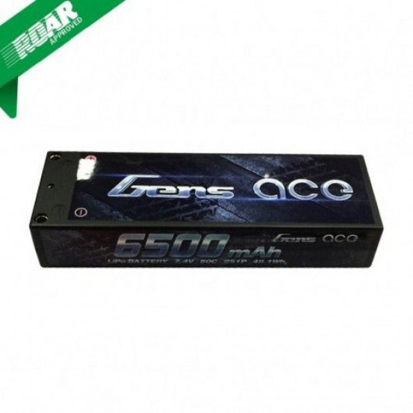 Gens Ace 6500mAh 7.4V 50C LiPO Battery