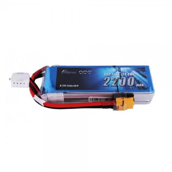 Gens Ace 2200mah 11.1V 3S 25C Lipo Battery Pack with XT60 Plug