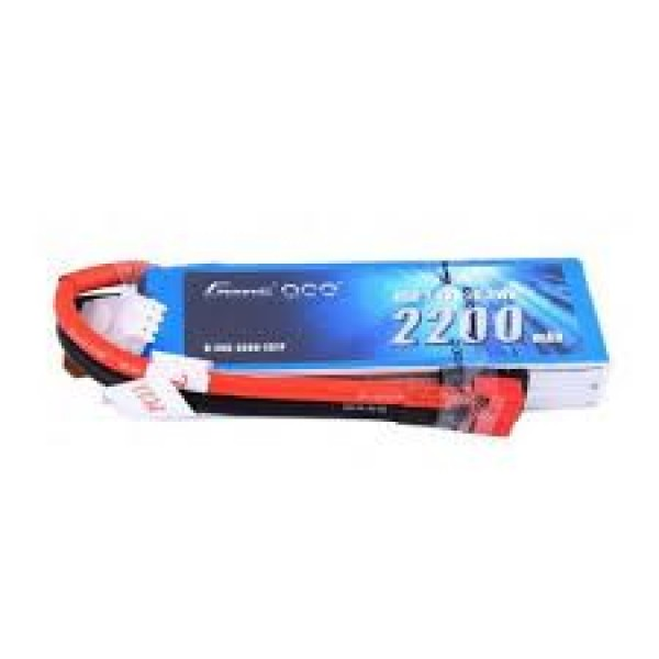 Gens Ace 2200mAh 7.4V 45C 2S1P Lipo Battery Pack with Deans Plug