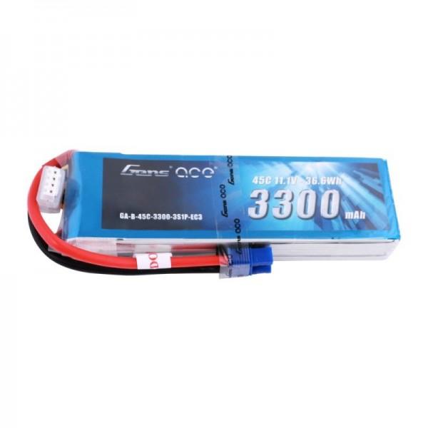 Gen3300mAh 11.1V 45C 3S1P Lipo Battery Pack with EC3 Plug