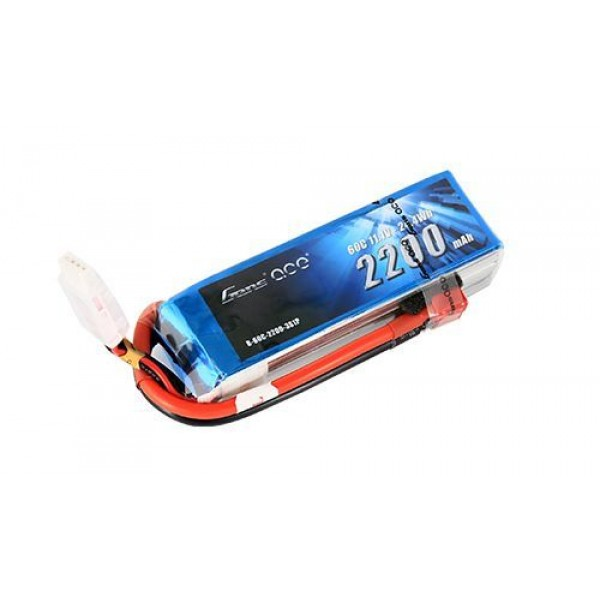 Gens Ace 2200mAh 11.1V 60C 3S1P Lipo Battery with Deans Plug