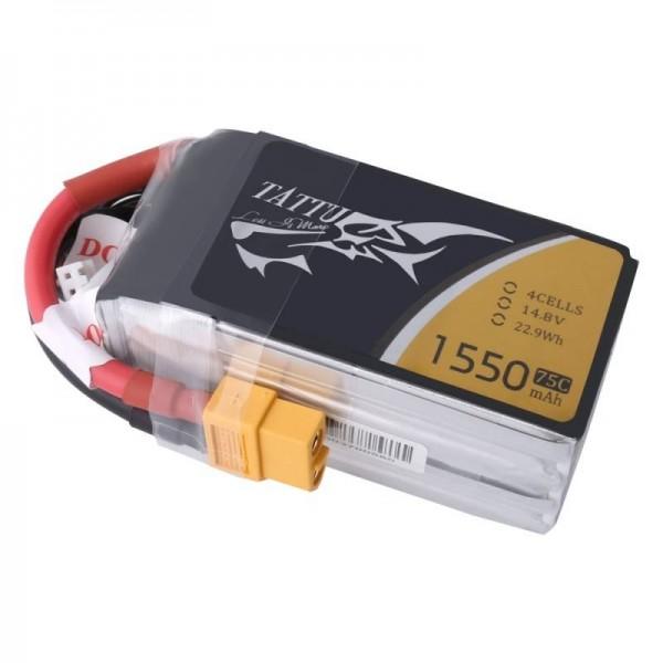 Gens Ace LiPo Battery 1550mAh 75C 14.8V (4S)