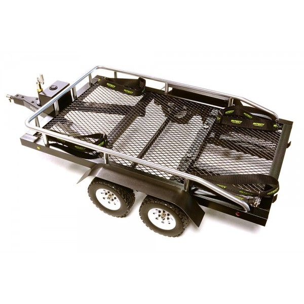 Integy Flatbed Dual Axle Car Trailer Kit, 580x320x110mm