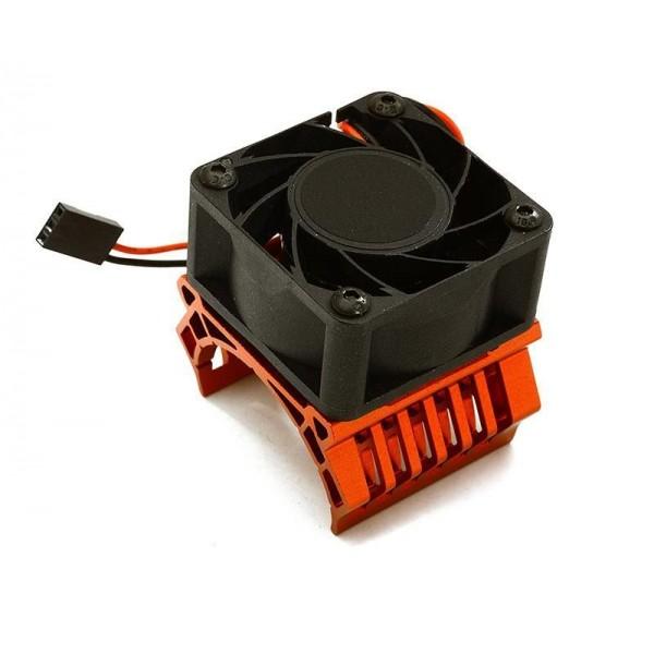 Integy 36mm Motor Heatsink+40x40mm Cooling Fan, 17k rpm (1/10 TR-MT10E & TRX-4)