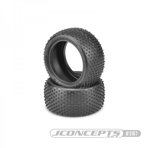 Jconcepts Nessi 1/10 Buggy Rear Tires, for Carpet/Astroturf (Pink Compound) (2)