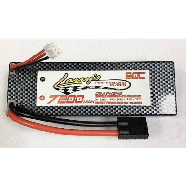 Larry's Performance RC 7200mAh 2s 80C Hardcase Graphene LiPO W/Traxxas Connector