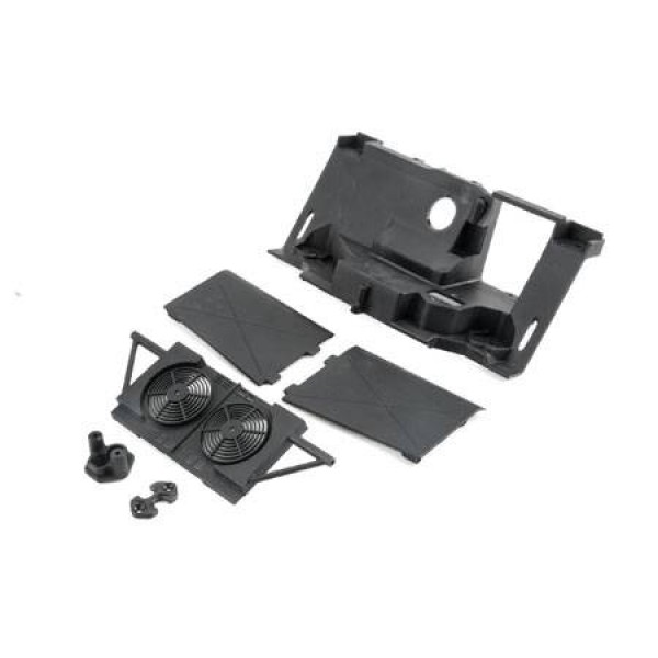 Losi Rear Bulkhead, Fan Panel, Mudguards (Baja Rey)
