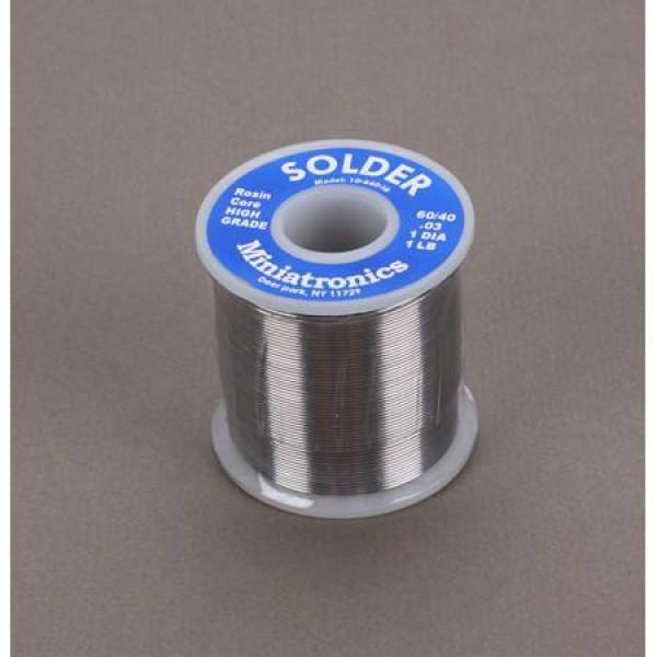 Miniatronics Rosin Core Solder 60/40, 1 lb