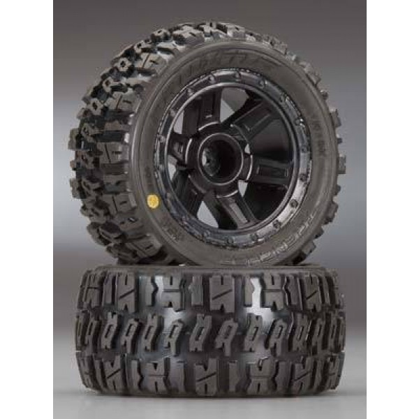 """Pro-Line Trencher 2.2"""" M2 All-Terrain mounted Tires & Wheels for 1/16 (2)"""
