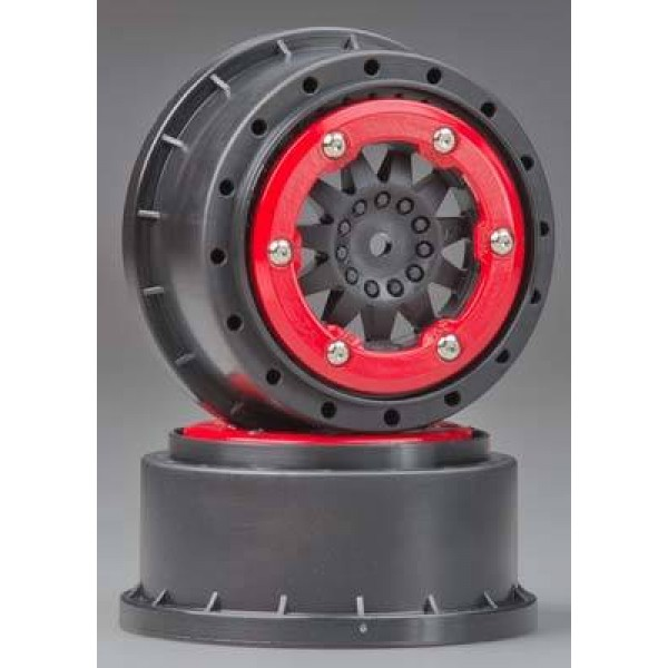 2745-03 ProTrac F-11 2.2 /3.0 Red/Blk Bead-Lock Whls