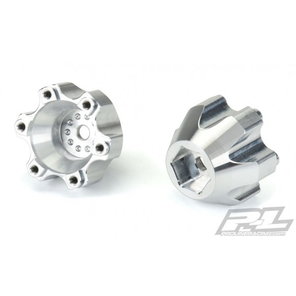 Pro-Line 6x30 to 14mm Aluminum Hex Adapters (2)