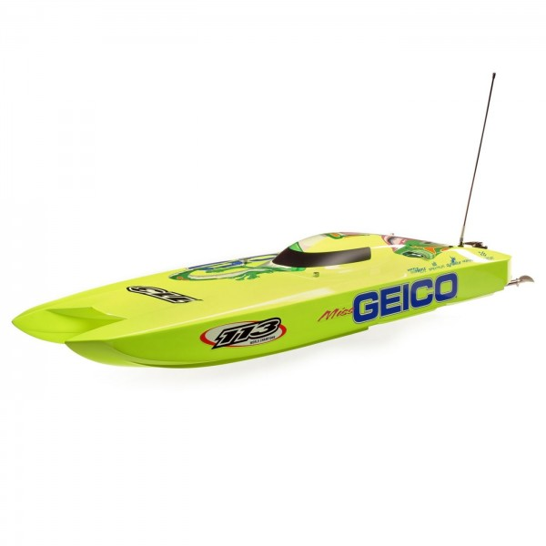 "Pro Boat Miss GEICO Zelos 36"" RTR Twin Brushless Catamaran"