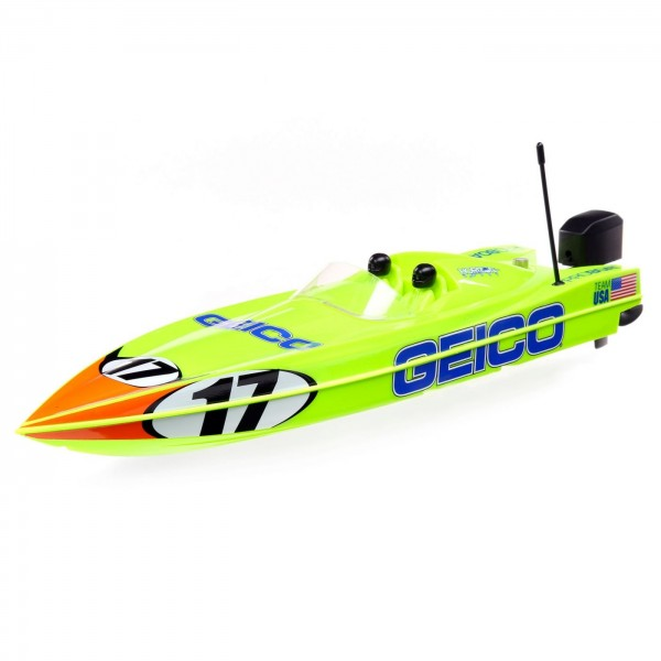 """Pro Boat 17"""" RTR Power Boat Racer Self-Righting Deep-V, Miss Geico"""