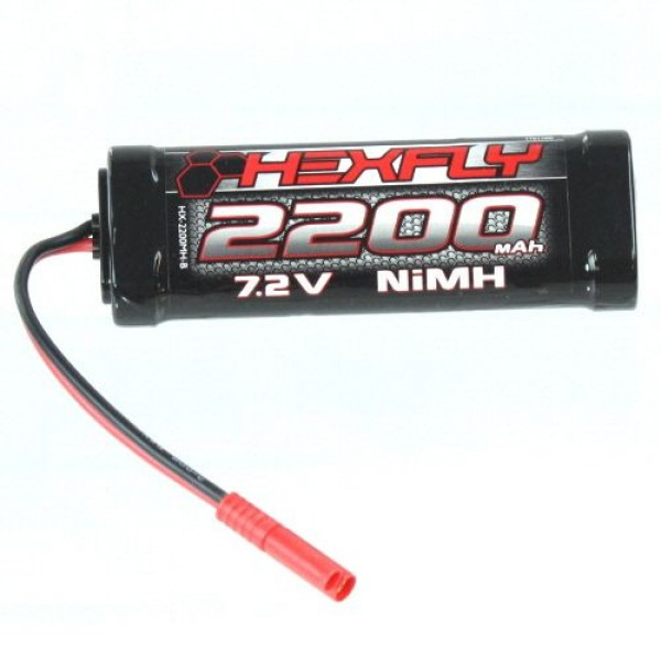 Redcat Racing Hexfly 2200mAh 7.2V NiMh Battery with Banana Connector