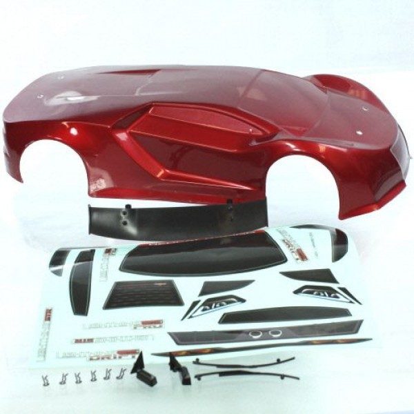 Redcat Racing 1/10th Scale Onroad Car Body, Red