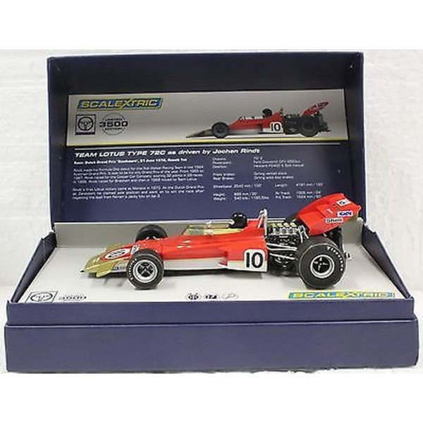 Scalextric 1/32 Lotus 72C F1 Jochen Rindt, #10 Limited Edition