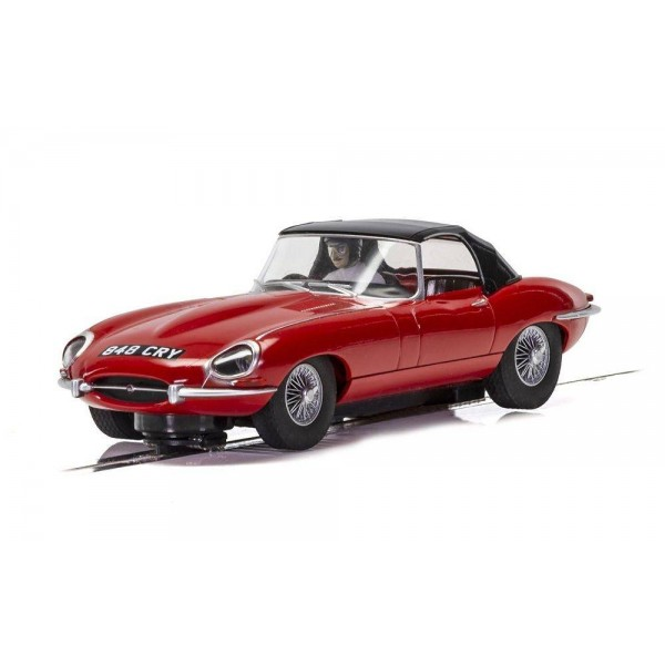 Scalextric 1/32 Jaguar E-Type,  Red