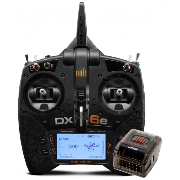 Spektrum DX6e 6CH Air Transmitter Radio System with AR620 Reciever