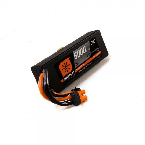 Spektrum 7.4V 5000mAh 2S 30C Smart LiPo Hardcase Battery with IC3 Connector