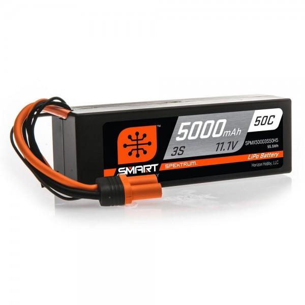 Spektrum 5000mAh 3S 11.1V 50C Smart LiPo Hardcase Battery (IC5)