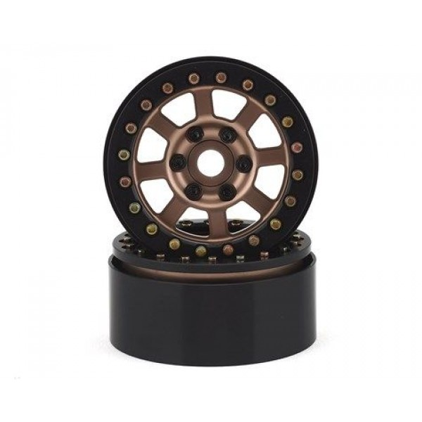 "SSD RC Aluminum Assassin 1.9"" Beadlock Crawler Wheels (Bronze) (2)"