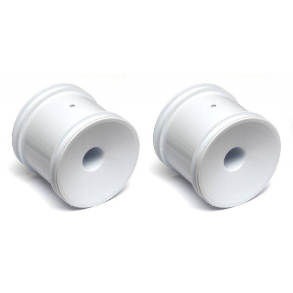 """Team Associated 2.2"""" Front 2WD White Truck Wheels, 12mm(2)"""