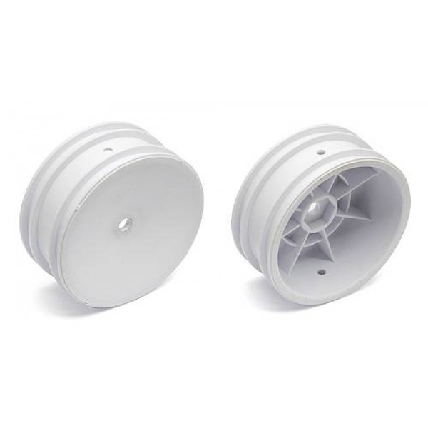 """Team Associated Buggy Front Hex Wheels, 2.2"""" 12mm, white (2)"""