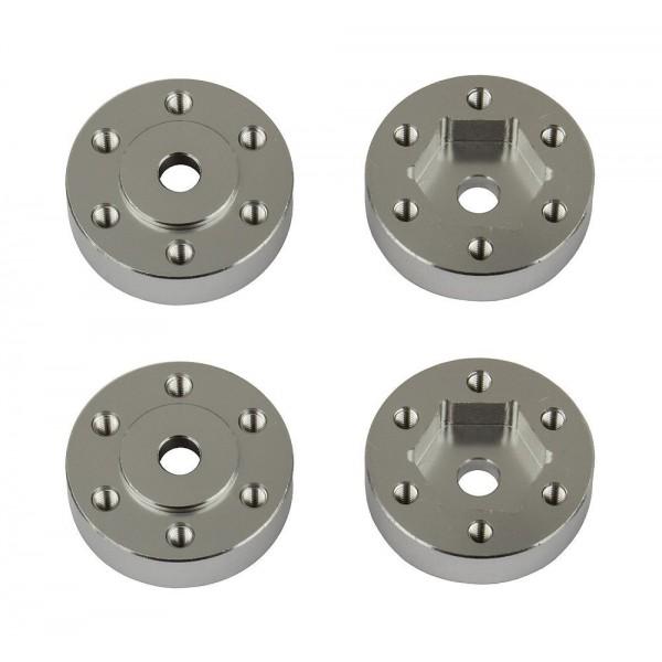 Team Associated FT Enduro Beadlock Hex Adapters, aluminum (4)