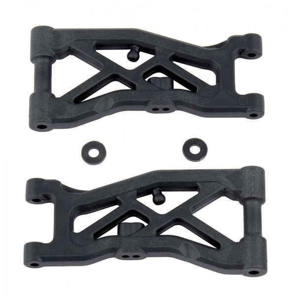 Team Associated Front Suspension Arms, hard (RC10B74) (2)