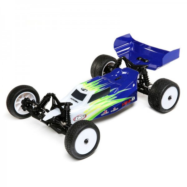 Team Losi Mini-B Brushed RTR 1/16 2WD Buggy, Blue/White
