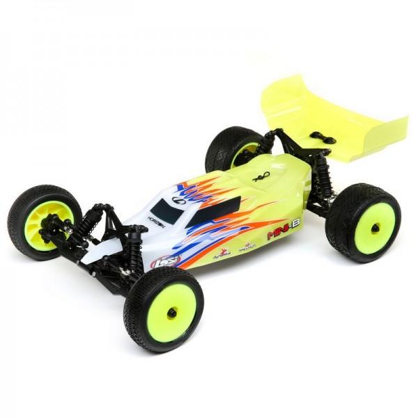 Team Losi Mini-B Brushed RTR 1/16 2WD Buggy, Yellow/White