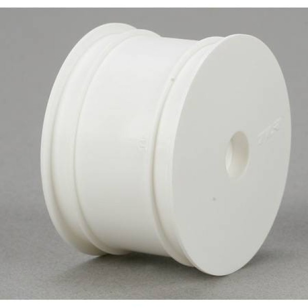 TLR 1/10 Rear Buggy Wheels, White (2)